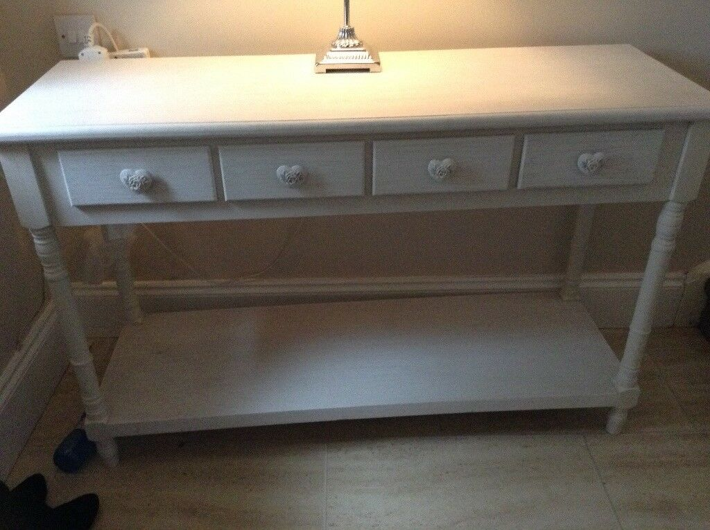 White washed hall table or dressing table.