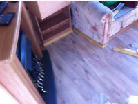 laminate floors, painting and decorating, doors hung, flat pack assembly