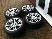 "GENUINE 20"" BMW 333M M SPORT ALLOY Wheels & Tyres"