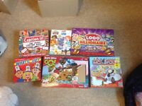6 family board games perfect condition