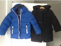 2 jackets and a coat for boys size 3-4 (school, casual and smart) Next, H&M, M&S