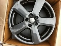 x2 Genuine Audi A3 Alloy Wheels, (powder coated gun metal grey)