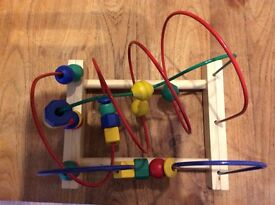 Sold-Wooden bead roller coaster