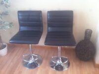 Stylish Design Upholstered Black Gas Lift Breakfast/Counter/Bar Stools