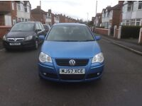 Volkswagen polo 1.2 S 3dr hatchback petrol manual 2007,1 owner low mileage full service history£1550
