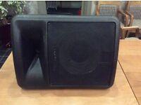 Peavy plastic bin speakers