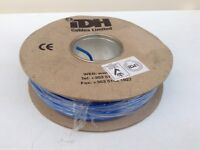 100M DRUM OF BLUE NEGATIVE SINGLE CORE ELECTRICAL CABLE