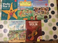 Violin books x 5 for learners