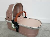 New: Icandy butterscotch peach carrycot nude
