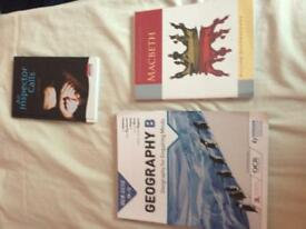 GCSE RECISION TEXTBOOKS GEOGRAPHY, MATHS, ENGLISH