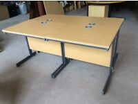 4 x Oak Rectangle Desks