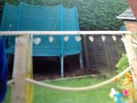 Trampoline with safety net and ladder (6ft)