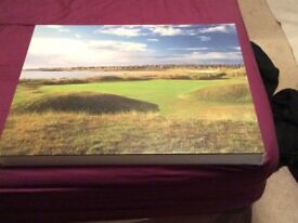 Peterhead G.C. 17th Green signed canvas photo by Donald Ford