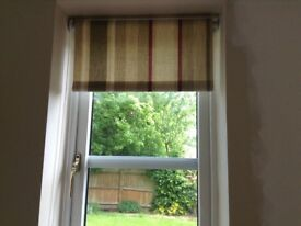 Stripped Laura Ashley Blinds /Red/sage/ Cream