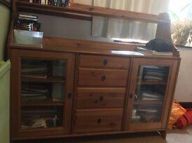 Ikea Leksvik solid pine sideboard