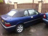 Rover 216 SLI 3 door coupe convertible 77k genuine miles in good condition