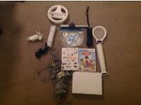 Wii with 3 games, 2 controllers and accessories