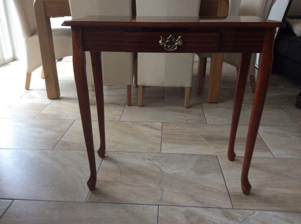 Single draw small mahogany table