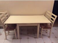 Extendable habitat dining/kitchen table and 4 chairs