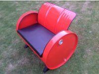 Oil drum sofa chair