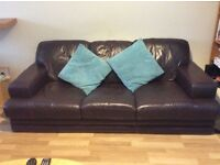 Lovely Faux Leather Sofa (Brown)
