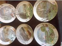 Collectable Porcelain plates - Seasons of the Year - 12 in number all in excellent condition