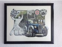 Limited Edition Print MG Racing by J. Lander