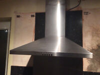 cooker hood /extractor stainless steele extending