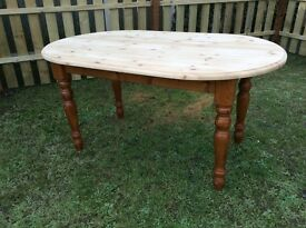 SOLID COUNTRY FARMHOUSE PINE DINING TABLE