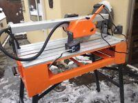 Wet bench tile cutter 800mm draw, electric 240v