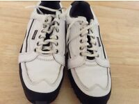 Used mens footjoy leather golf shoes