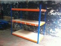 JOBLOT 5 bays Rapid 1 industrial longspan shelving 6ft high ( pallet racking , storage )