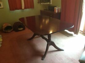 Mahogany effect dining table