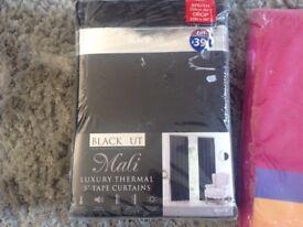 Blackout. 90x90 black curtains