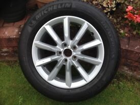 AUDI Q3 alloy wheel & tyre