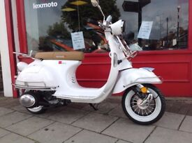 Lexmoto Milano 50cc vespa retro scooter brand new 3 years warranty