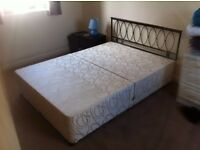 Double bed base and mattress - £20 ONO - Will separate