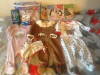 Baby boy 6-9 9-12 months clothing nappies etc HUGE christmas bundle JOBLOT