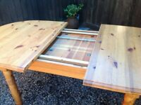Large 8-10 seater solid pine table -free delivery