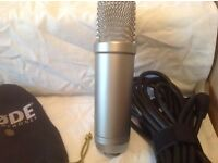 Rode nt 1a microphone with lead and cradle SOLD..! SOLD...! SOLD..!