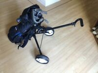 Junior US Kids golf clubs, bag &a trolley