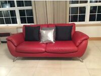 Modern Red Leather Sofas