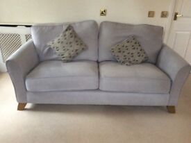 Beautiful grey fabric sofa, excellent condition.