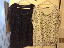 Selection of women's clothes in sizes 18-22