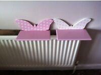 Girls butterfly next shelves