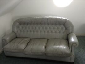 Quality three piece Leather suite
