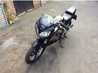 HONDA CBR 125 R, 2006, BLACK AND SILVER, JANUARY M.O.T, HPI CLEAR, STARTS RIDES AND RUNS AS IT SHOUL