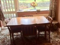 G Plan dining table and chairs plus matching sideboard