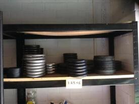 1.25kg Standard Cast Iron Weights (£1 per 1kg)