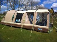 Kampa Frinton 4 tent WITH additional porch in polycotton in good contion